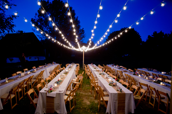 Large Bistro Lights Outdoor Dinner All About Events