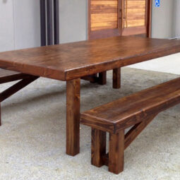4x 8 Farmhouse table and benches