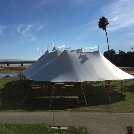 59'x99' Twin Peak Sailcloth Tent