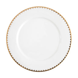 CHINA--Gold-Scallop-11'-Dinner-Plate