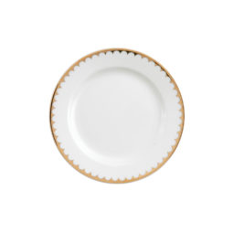 CHINA--Gold-Scallop-7'-Bread-&-Butter-Plate