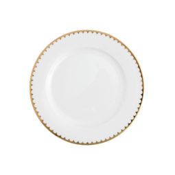 CHINA--Gold-Scallop-9'-Salad-Plate