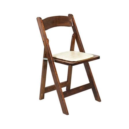 Fruitwood folding chair