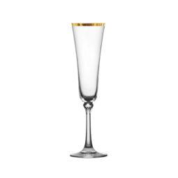 GLASSWARE- Gold Rim Champagne Flute