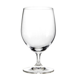 Lead free crystal stemmed water glass