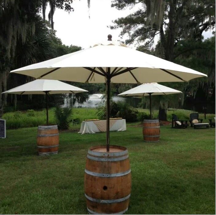 Umbrella u2013 Wine Barrel with Market & Wedding u0026 Event Umbrella Rentals