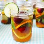 mason jars with drink