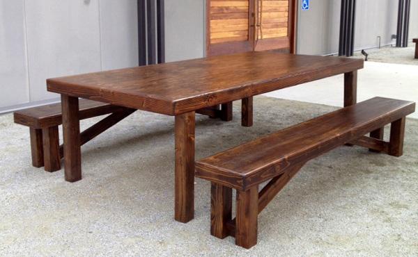 farmhouse table for 8 Farmhouse Table   8' x 4'   All About Events farmhouse table for 8